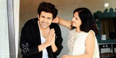 Kartik Aaryan's Mom Cried After Watching His On-Screen Kiss
