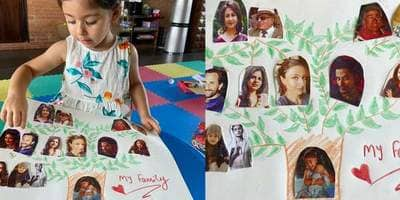 Kareena Kapoor Proudly Shares Niece Inaaya Naumi's Art Work As The Little One Presents Her Family Tree
