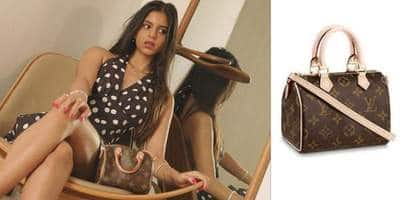 Suhana Khan Stuns In A Retro Look With Her 'Baby Louis Vuitton', The Price Of Her Tiny Handbag Might Makes Your Eyes Pop