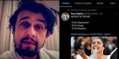 Sonu Nigam Lashes Out At Ministry Of Labour For Sharing A Meme On Deepika Padukone After Her Name Appears In Drug Probe