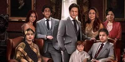 Shah Rukh Khan's Fanmade Family Portrait With Gauri, Kids And His Parents Goes Viral. Check It Out