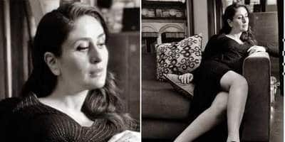 Kareena Kapoor Looks Chic In Thigh-High Slit Dress In Her Latest Monochrome Picture