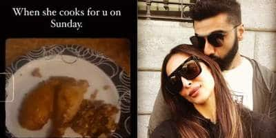 Arjun Kapoor Enjoys A Meal Cooked By Girlfriend Malaika Arora On Sunday, Shares Video