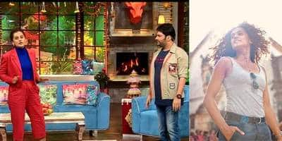"""Kapil jokes about Taapsee playing an athlete in several films she says, """"Mujhe Bollywoon mein entry sports quota pe mili hai"""""""