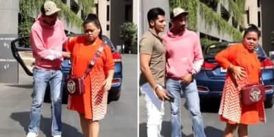 Bharti Singh asks 'kya pose hai yeh' after Harsh Limbhachiyaa helps her strike one, pap answers 'kidney chori ho gaya'