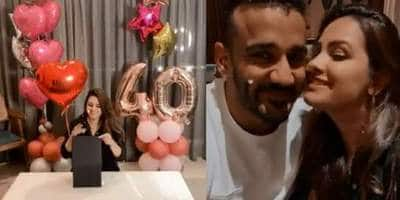 Anita Hassanandani Rings In 40th Birthday With Husband Rohit Reddy And Son Aarav; Watch Video