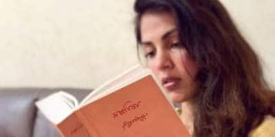 Rhea Chakraborty Is Engrossed In Reading Rabindranath Tagore's Gitanjali In Her Latest Post, Talks About 'Keeping The Faith'