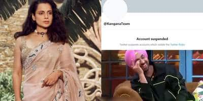 Tweeps Imagine Hrithik Roshan, Diljit Dosanjh's Reactions In Memes As Kangana Ranaut's Account Gets Suspended From Twitter