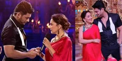Madhuri Dixit recreates an iconic scene from Dil To Pagal Hai with Sidharth Shukla on Dance Deewane 3