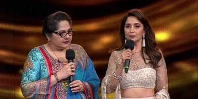 Madhuri Dixit hands Shagufta Ali a cheque of Rs. 5 lakhs on Dance Deewane sets as actress talks about her financial woes