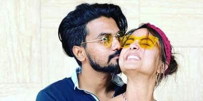 Exclusive: Hina Khan's beau Rocky Jaiswal compares her journey in the industry to that of Shah Rukh Khan & Vidya Balan
