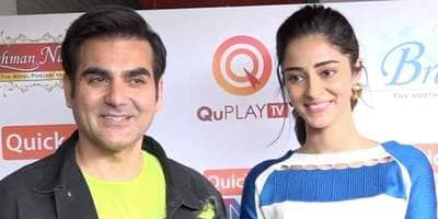 """Arbaaz Khan lauds Ananya Panday and her initiative, says """"She's a strong built girl, in a good space"""""""