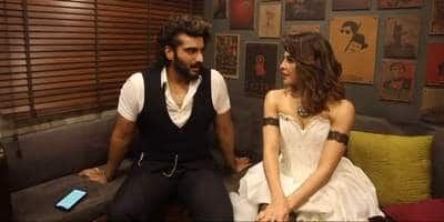 Arjun Kapoor asks Jacqueline if she depends on food when she's low, jokes 'please leave my van,' when she says 'no'