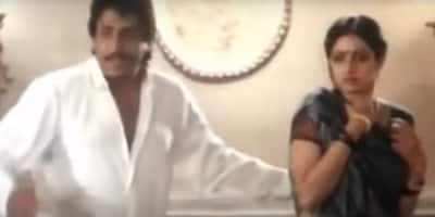 Ranjeet hit Sridevi with a hunter and wailed