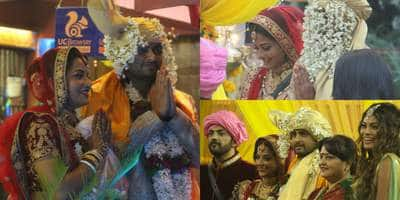 In Pictures: Monalisa and Vikrant's Marriage Inside Bigg Boss House!