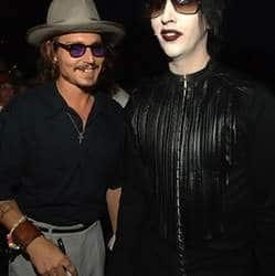 Johnny Depp and Marilyn Manson rock on